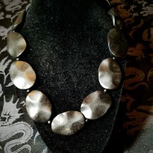 Vintage Jewelry - Vintage Black Plastic Stones Necklace